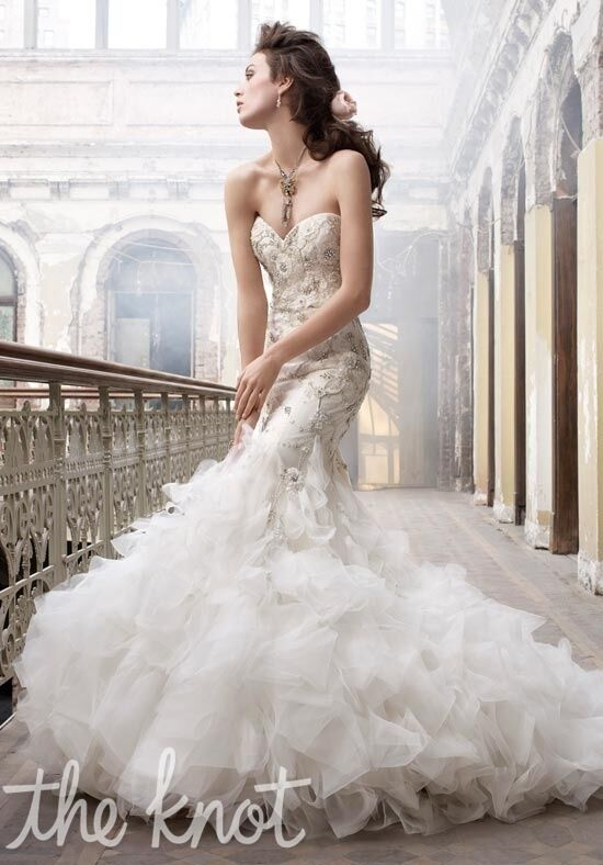 Lazaro 3215 Mermaid Wedding Dress