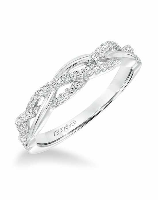 ArtCarved 31-V682W-L White Gold Wedding Ring