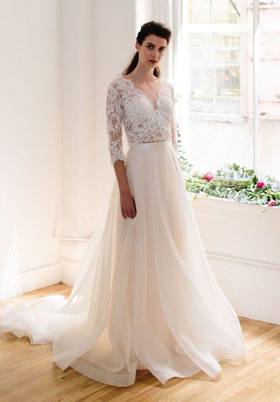 Lea Ann Belter Tallulah Top Eden Skirt A Line Wedding Dress