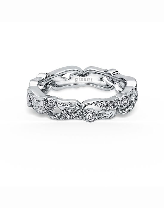 Kirk Kara Dahlia Collection K177-B White Gold Wedding Ring