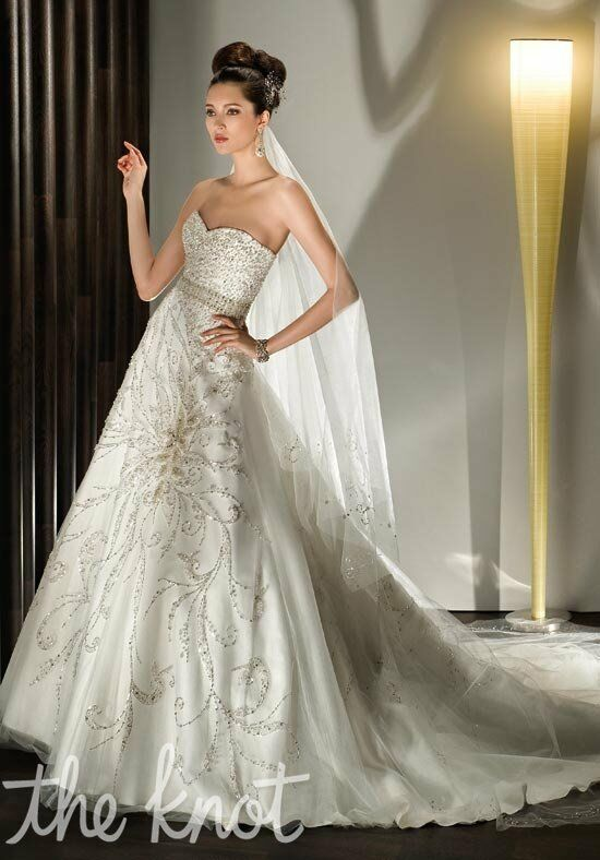 Demetrios 524 A-Line Wedding Dress