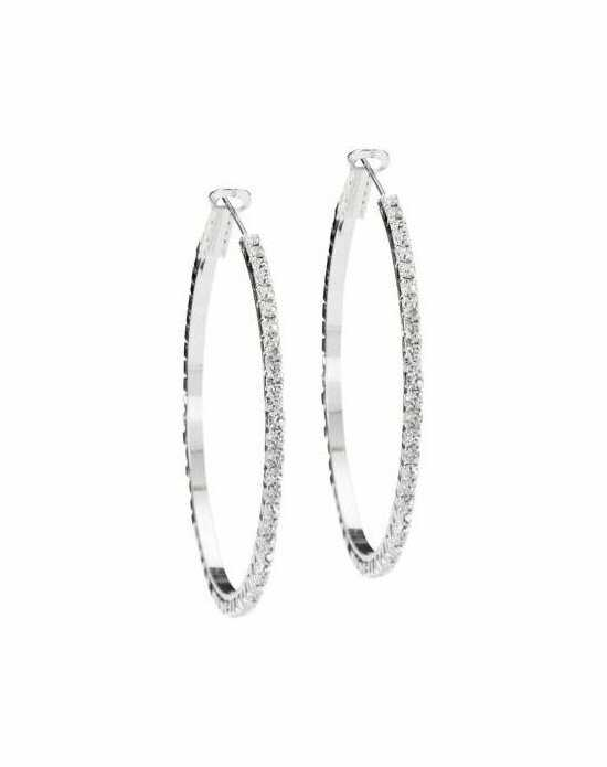 Anna Bellagio JESSICA RHINESTONE HOOPS Wedding Earrings photo