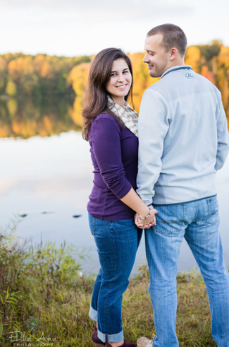 ... Country Engagement Session Mattawa Photographer Ryan and Shelby Couple  standing in a grove of trees ...