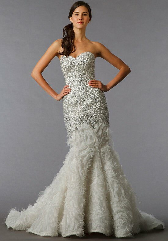 Pnina tornai for kleinfeld 4193 wedding dress the knot for Pnina tornai wedding dresses prices