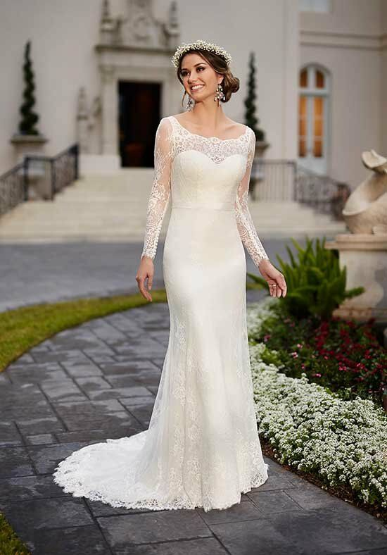 Long Sleeve Sheath Wedding Dresses