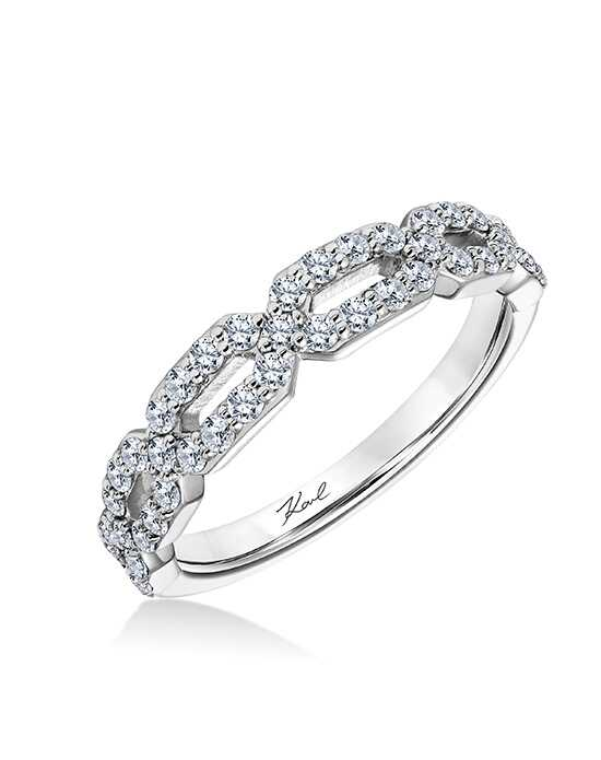 KARL LAGERFELD 31-KA117-L Platinum Wedding Ring