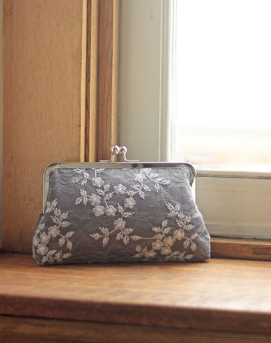 Davie & Chiyo | Clutch Collection Antoinette Clutch: Grey Hyacinth Ivory, Gray Clutches + Handbag