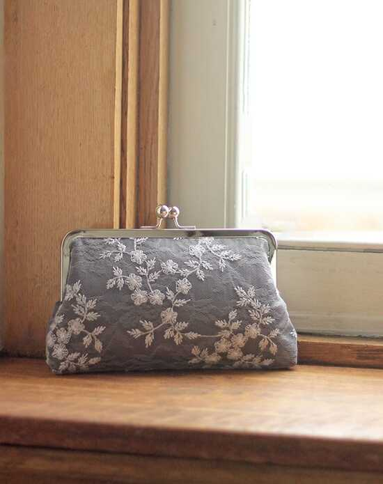 Davie & Chiyo | Clutch Collection Antoinette Clutch: Grey Hyacinth Gray, Ivory Clutches + Handbag