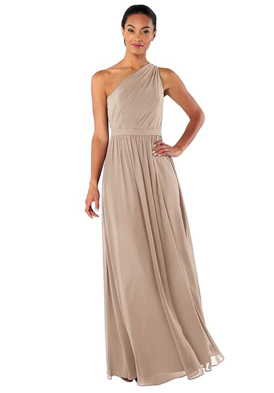 Brideside Tina in Chai One Shoulder Bridesmaid Dress