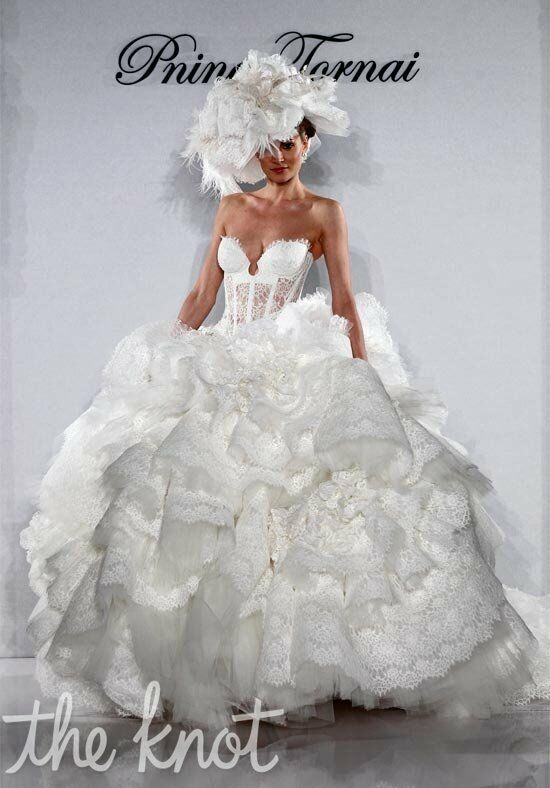 Pnina Tornai for Kleinfeld 4152 Ball Gown Wedding Dress