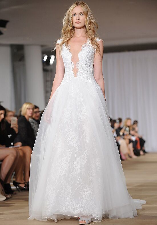 Ines Di Santo Sheer Ball Gown Wedding Dress