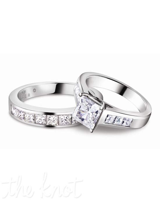 Jeff Cooper R-3146 & R-3146/B Platinum, White Gold Wedding Ring
