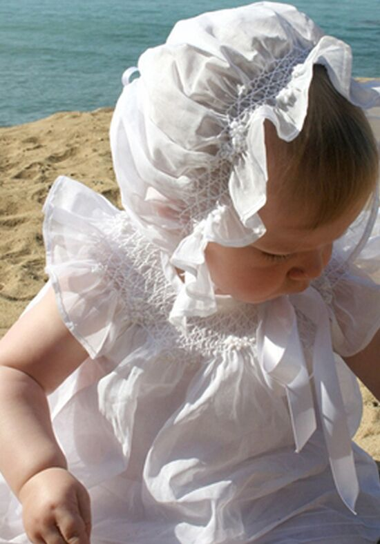 Isabel Garretón Promise Smocked Baby Bishop White Flower Girl Dress