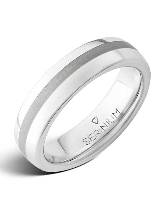 Serinium® Collection Soho Slim — Satin Finish Serinium® Ring-RMSA001831 Serinium® Wedding Ring