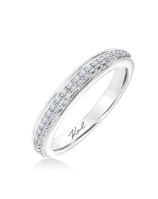 KARL LAGERFELD 31-KA153P Gold, White Gold, Platinum Wedding Ring