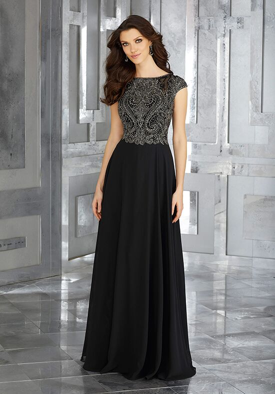MGNY 71635 Black Mother Of The Bride Dress