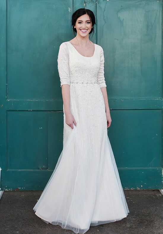 Modest by Mon Cheri TR21852 A-Line Wedding Dress