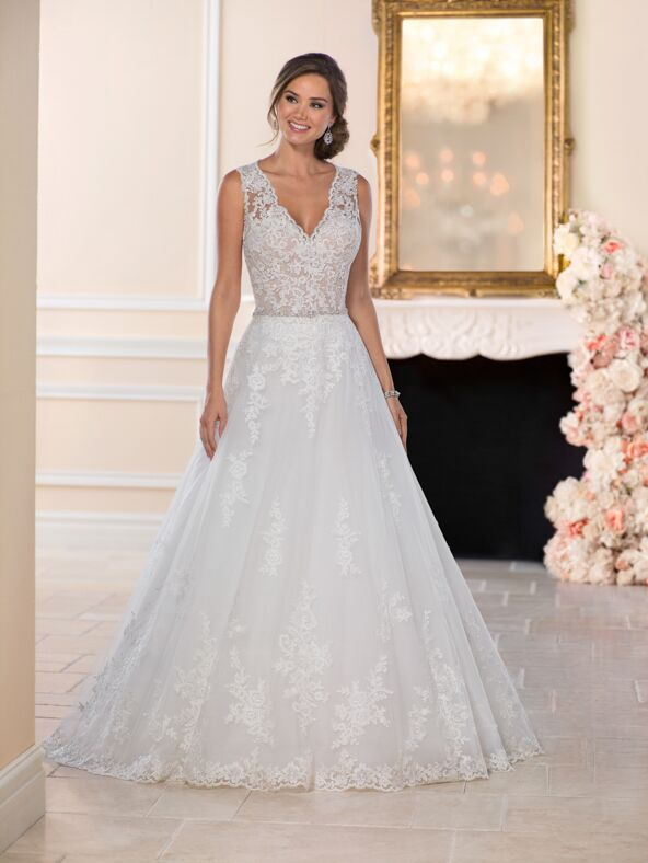Stella York 6458 A-Line Wedding Dress