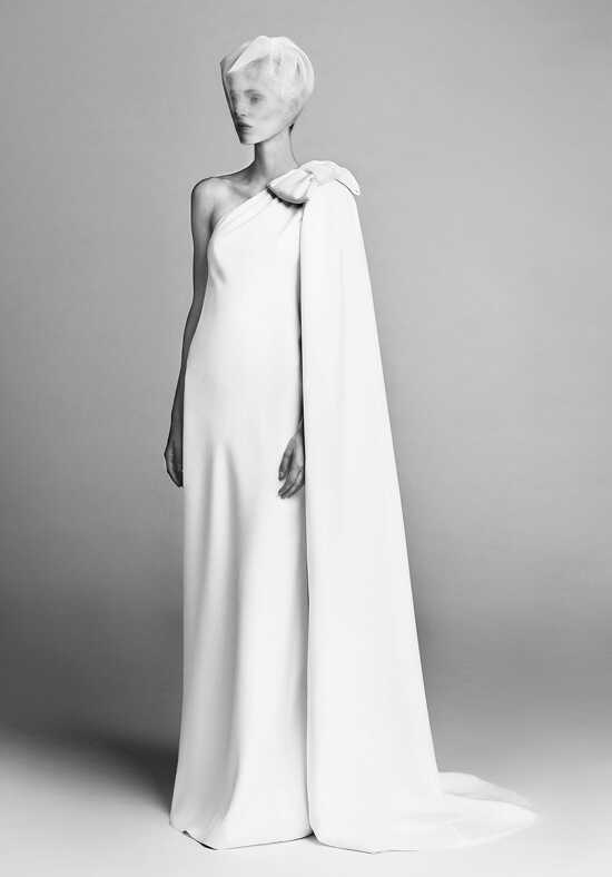 Viktor&Rolf Mariage Bow Cape Dress Sheath Wedding Dress