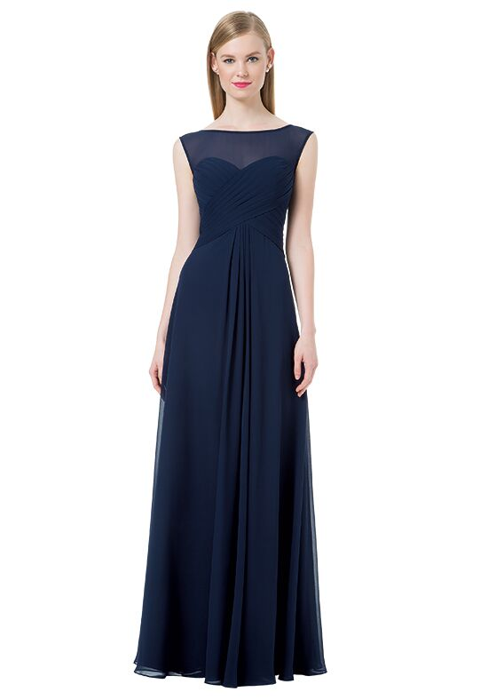 Bill Levkoff 1205 Illusion Bridesmaid Dress
