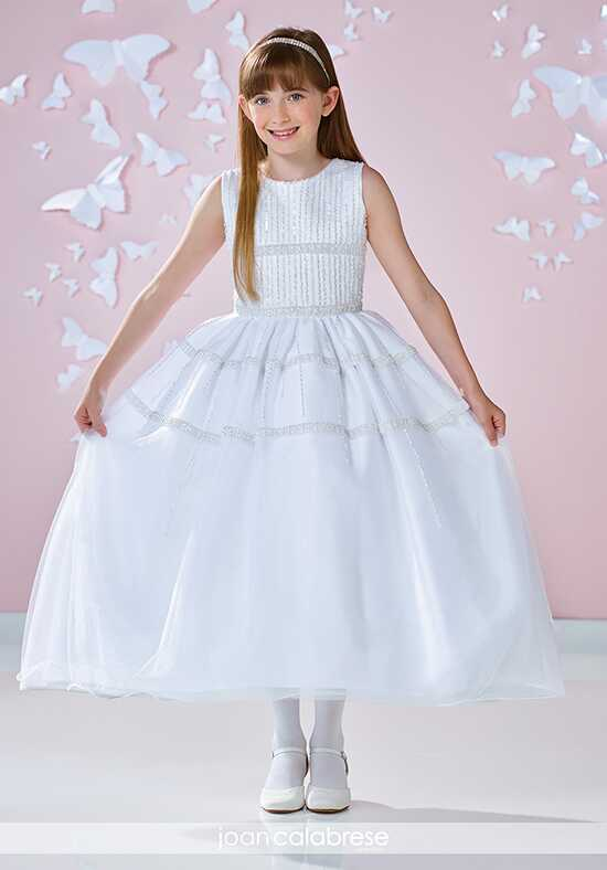 Joan Calabrese by Mon Cheri 117345 White Flower Girl Dress