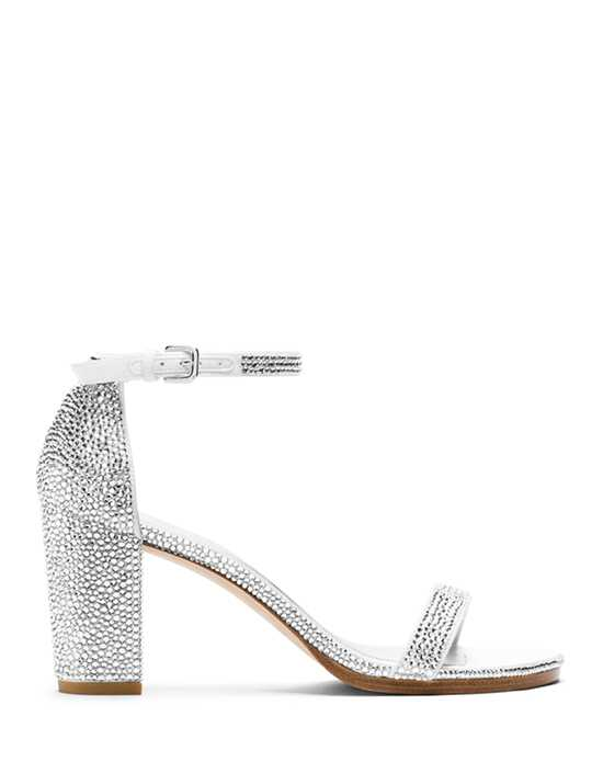 Stuart Weitzman Nearlynude Sandal Bridal Crystal Pave Crystals