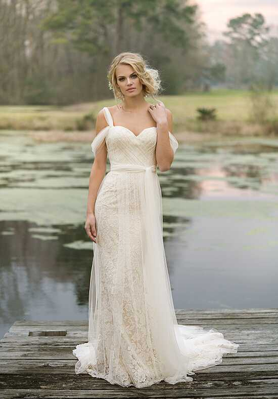 Lillian West 6455 Sheath Wedding Dress