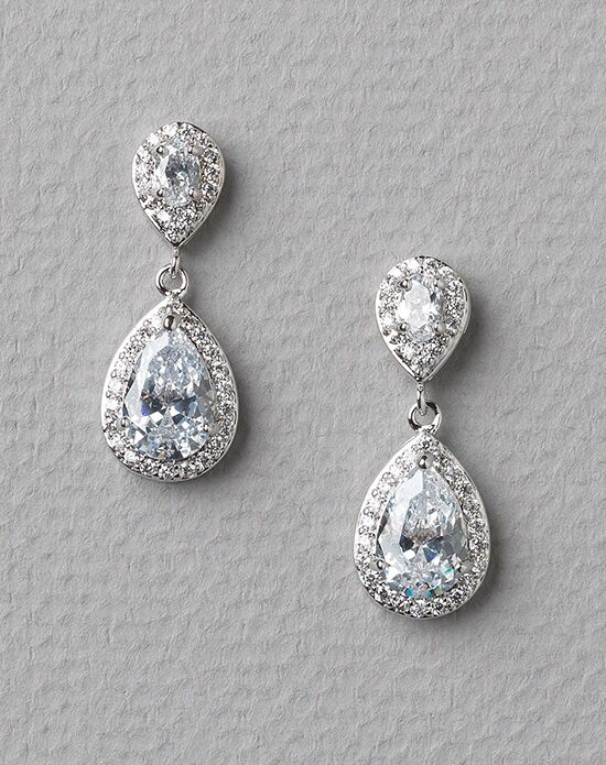 USABride Ella CZ Earrrings JE-4047 Wedding Earring photo