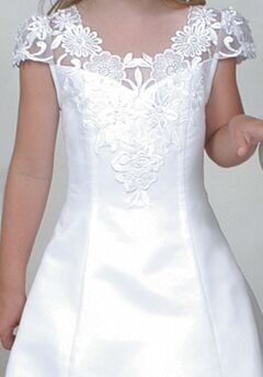 Sweetie Pie Collection 164 White Flower Girl Dress