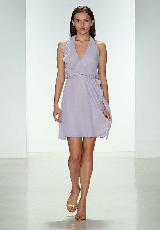Nouvelle Amsale Bridesmaids N317 Halter Bridesmaid Dress