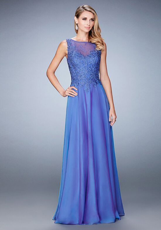 La Femme Evening 22783 Blue Mother Of The Bride Dress