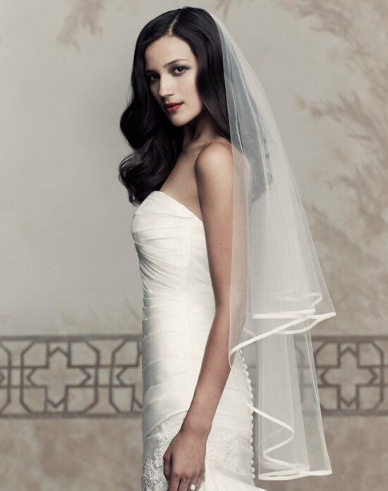 Paloma Blanca Veils Collection V434F Ivory Veil
