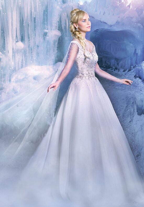 Alfred angelo disney fairy tale weddings bridal collection for Designer disney wedding dresses