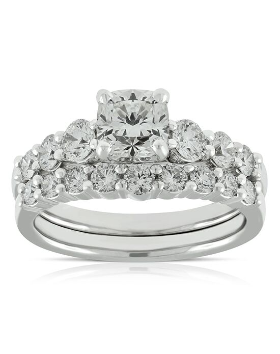 Ben Bridge Jeweler Glamorous Cushion, Round Cut Engagement Ring