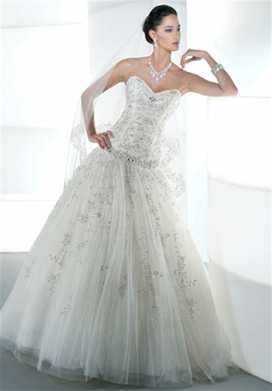 Demetrios 534 Ball Gown Wedding Dress