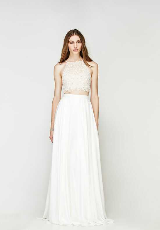 Willowby by Watters Vanu Crop Top (Lined) 56690M / Ruby Skirt 55423 A-Line Wedding Dress