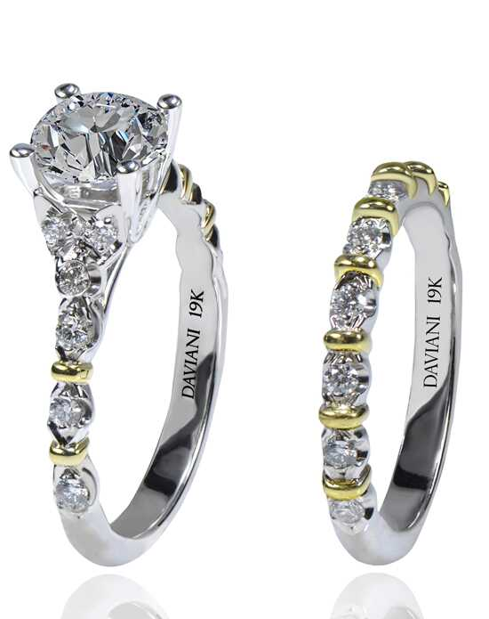 Daviani Love Links Collection DCR1186 White Gold,Gold Wedding Ring