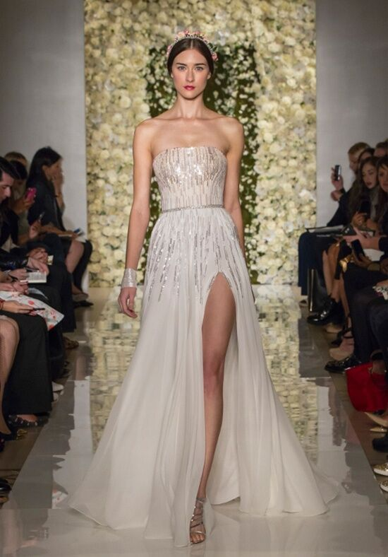 Reem Acra I'm A Sensation A-Line Wedding Dress