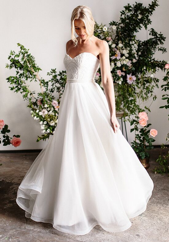 KAREN WILLIS HOLMES Demi & Joni A-Line Wedding Dress