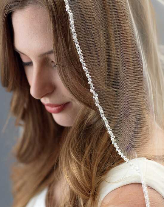 USABride Adele Pearl & Crystal Edge Veil (1-Layer) VB-5063 Wedding Veils photo