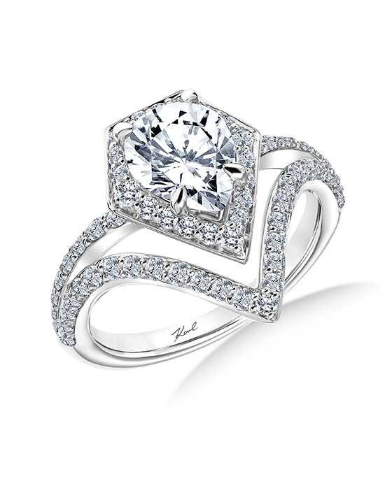 karl lagerfeld unique pear cut engagement ring - Pear Shaped Wedding Ring