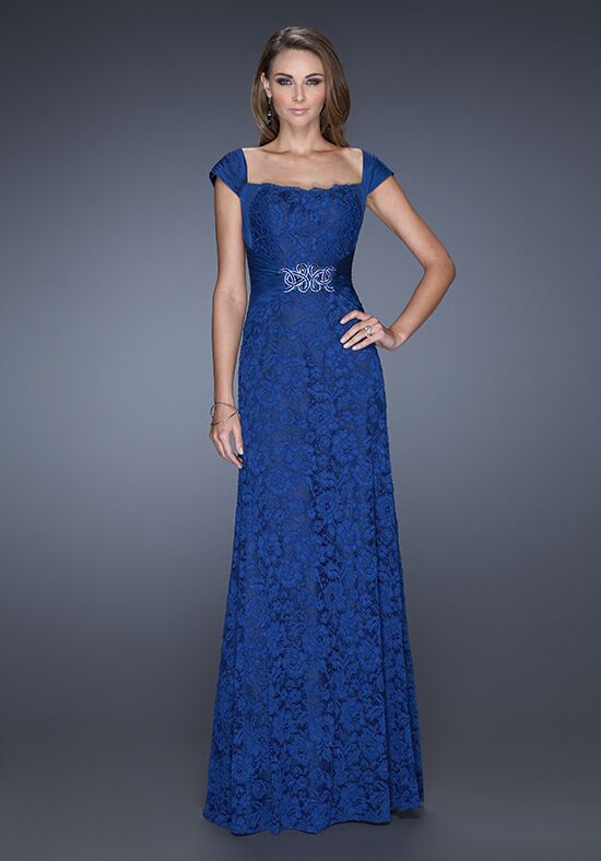 La Femme Evening 19509 Blue Mother Of The Bride Dress