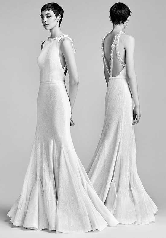 Viktor&Rolf Mariage Crystallised Flirty Godet Gown Sheath Wedding Dress
