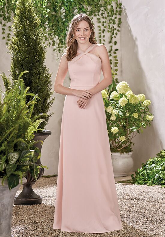 B2 by Jasmine B193004 Halter Bridesmaid Dress