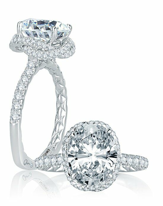 A.JAFFE Oval Cut Engagement Ring