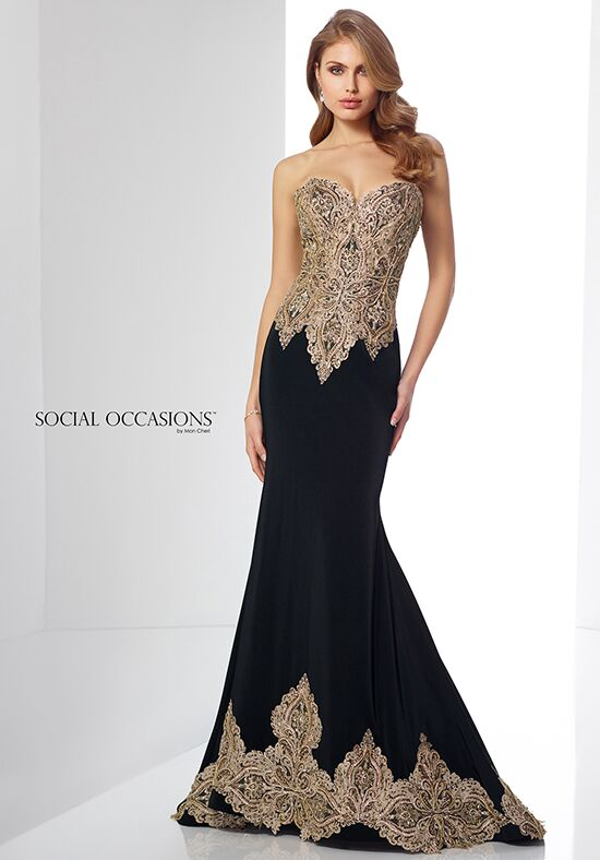 Social Occasions by Mon Cheri 217831 Black Mother Of The Bride Dress