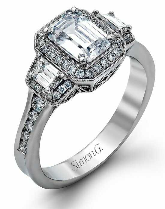 simon g jewelry emerald cut engagement ring