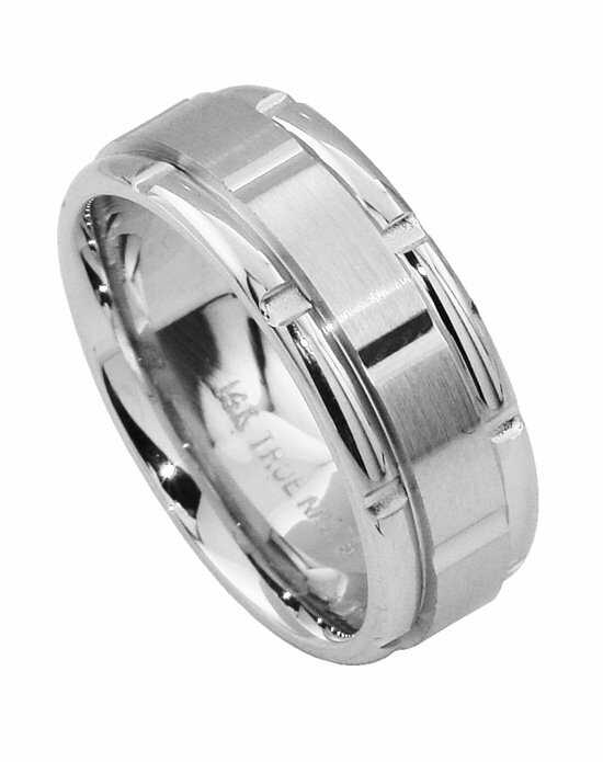 TRUE KNOTS TRUE MAN-502DCW Palladium,Platinum,White Gold Wedding Ring