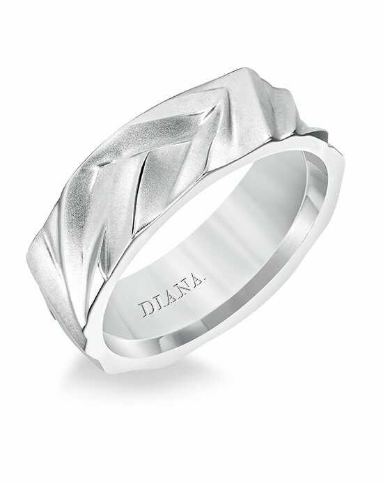 Diana 11-N17W100-G Platinum, White Gold Wedding Ring