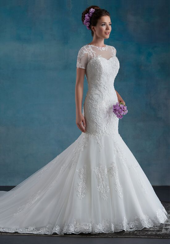 1 Wedding by Mary's Bridal 6545 Mermaid Wedding Dress